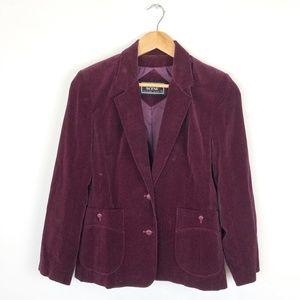Vintage Velvet Blazer Jacket